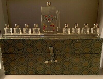 Slot Maching Glass Monorah For Hanakah Brand New Never Used