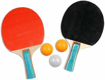 Set gioco da ping pong 3 palline racchette e rete da tavolo regolabile 123 cm