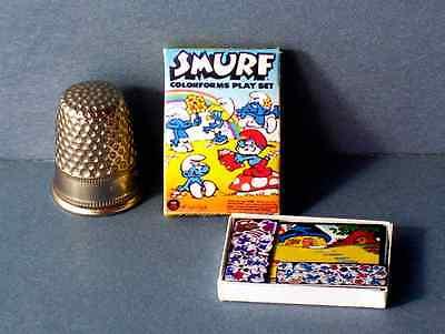 Dollhouse Miniature 1:12 Smurf Colorforms Play Set Box 1970s Dollhouse toy game