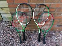 2 adult and 2 junior tennis racquets