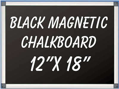 12 X 18 Aluminum Framed Black Magnetic Chalkboard Pen Tray Liquid Chalk Ok