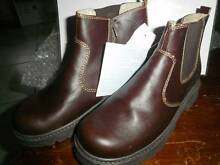 NEW BOY'S BROWN LEATHER BOOTS NEW WITH TAGS. Warners Bay Lake Macquarie Area Preview