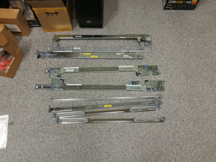 5x HP and misc. server rails / rack mount kit (FREE)