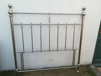 Silver headboard for doublebed. In good condition. 4 ft 6 ins by 4 ft 6 ins.