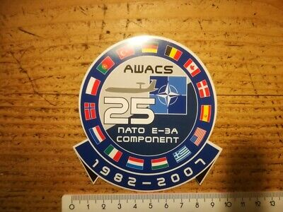 R5* retro sticker NATO 25 YEAR AWACS E-3A 1982-2007 AIRPLANE militaria ABL