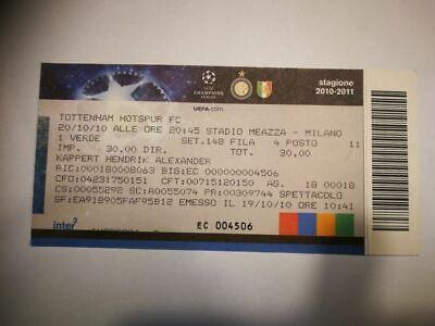 R2 TICKET INTER MILANO  TOTTENHAM HOTSPUR 20/10/2010 UEFA CHAMPIONS LEAGUE SPURS