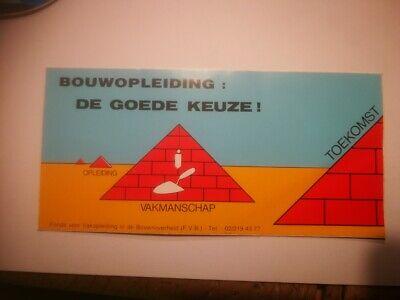 R10* retro sticker BOUW OPLEIDING DE GOEDE KEUZE BUILDING CLASSES A GOOD CHOICE