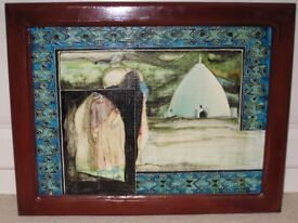 Painting on Glass: Middle Eastern scene
