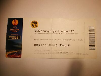 R2 TICKET BSC YOUNG BOYS BERN - LIVERPOOL FC 20/09/2012 UEFA EUROPA LEAGUE