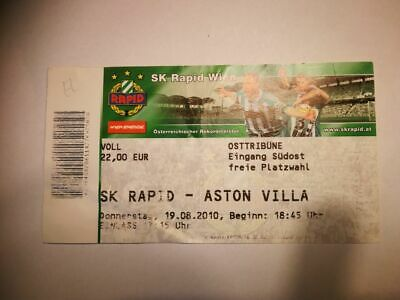 R2 TICKET RAPID WIEN -  ASTON VILLA 19/08/2010 UEFA EUROPA LEAGUE