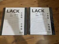 2 x IKEA Lack Black Wall Shelf 30 X 26cm