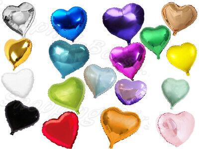 cm Heliumballon Herzform verschiedene Farben - Ballons (18 Folienballons)