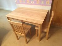 Quality Children's Table and Chair Desk Set