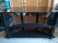 Black Glass and Chrome TV Stand to hold up to 42inch TV's