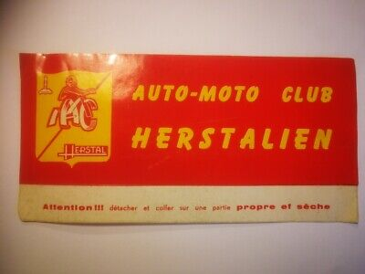 R13 retro sticker AUTO MOTO CLUB HERSTALIEN MC HERSTAL MOTOR RALLY GP AMC