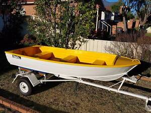 Savage Gull Aluminium boat & trailer Revesby Bankstown Area Preview