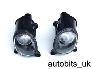 BLACK FRONT FOG LIGHTS LIGHT LAMPS SET FOR VW PASSAT 3BG 3B3 3B6 B5 B5.5 00-05