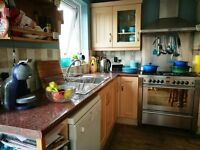 Kitchen units, dishwasher, range cooker and fridge freezer