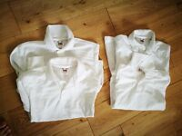 Fruit of the Loom white polo shirt X 5