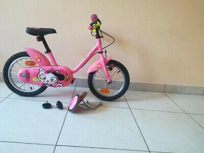 Vélo rose enfant fille, 3-5 ans, bon état