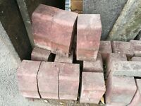 46 x used red block paving edging stones for sale - £15