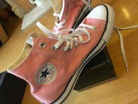 Pink high top converse UK 8.5