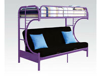 Eclipse® 3 in 1 Unisex Extra Sturdy Futon Bunk Bed + Sofa Bed RRP £500 (from smoke & pet free home)