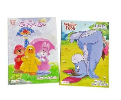 Winnie the Pooh and Little Suzy's Zoo Coloring Book Activity Books Set of 2 NEW