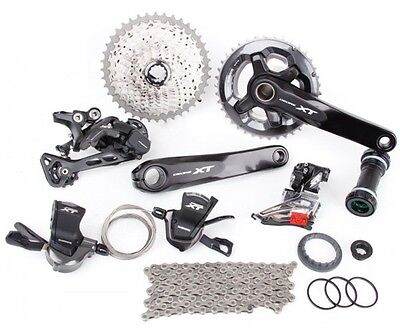 Shimano Deore XT M8000 Triple Groupset Group M8000-D 3x11 Speed Direct Mount for sale  Shipping to Canada