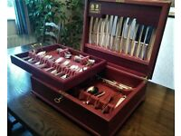 Arthur Price 100 piece silver plated Classic Bead canteen of cutlery hardy used