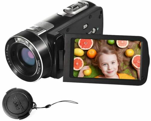 "Video Camera Camcorder 1080P 24.0MP 3"" LCD Screen 18X Digital Zoom Night Vision"