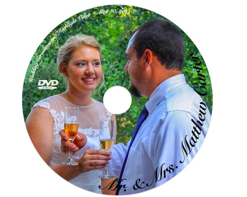 Custom Printed DVD-R DL 8.5GB Duel Layer DVD ~FULL COLOR~ Weddings, Graduations