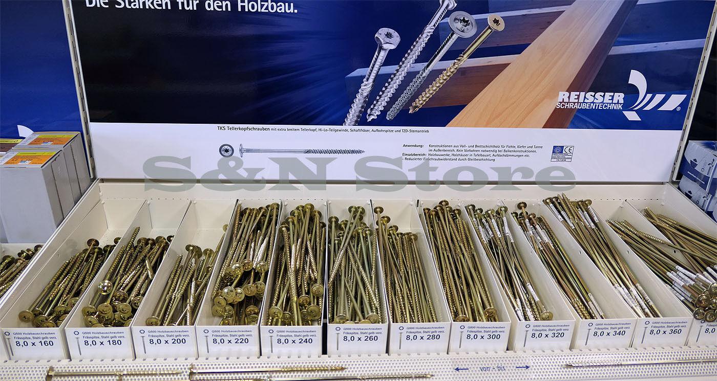 Tellerkopfschrauben 6 und 8 mm Holzbauschrauben Tellerkopf ETA - Zulassung Torx