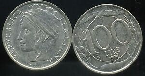 ITALY ITALIE 100 lire 1994 ( etat ) - France - Year: 1994 Circulated//Uncirculated: Circulated Composition: Nickel Country//Region of Manufacture: Italy Country/Region of Manufacture: Italy - France