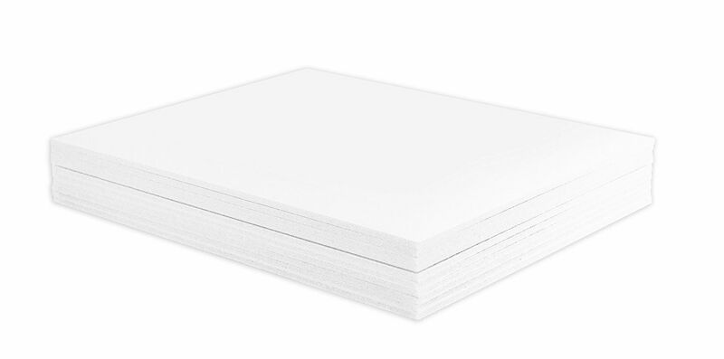 """Mat Board Center, Pack of 10 3/16"""" White Foam Core Backing Boards (18x24, White)"""