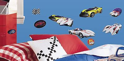 Speed Racer Flag - 19 Speed Racer Cars Wall Stickers Racer X, Mach 5, Flag, Kids Boys Room Decals