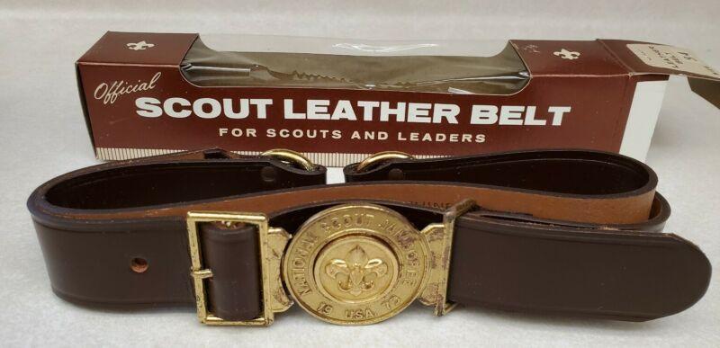 Boy Scout BSA 1973 National Scout Jamboree Leather Belt - NIB Size 34