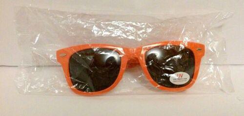 WHITE CASTLE Vintage Novelty Sunglasses Orange Folding Advertising Glasses