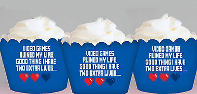 Computer Games - Computer Games Gaming Computer Party Wraps Cupcake Cases Cake Wrapper Cup Cake