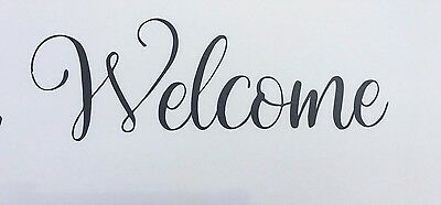 Front Door Welcome Vinyl Decal Sticker 11.5