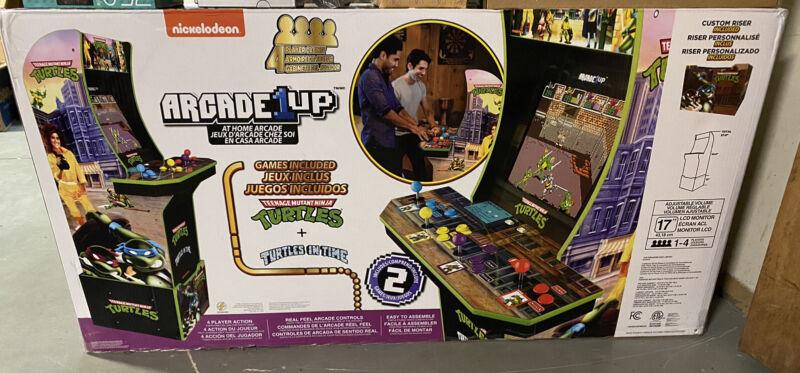 Arcade 1Up TEENAGE MUTANT NINJA TURTLES ARCADE CABINET TMNT 4 NEW Arcade1up