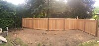 Oakview Fence - Post holes