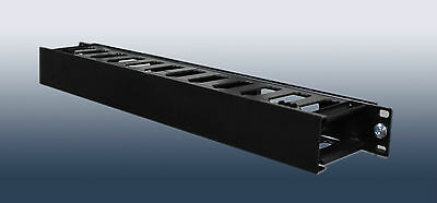 1U Horizontal Rack Mount Cable Management Unit with Panel Plastic