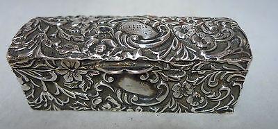 Victorian Silver Trinket Box Birmingham 1893? A604417