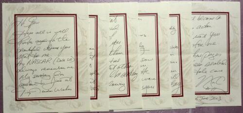 Nick Carter Backstreet Boys SUPER RARE 6 page handwritten letter June 2003.