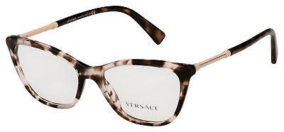 Versace Eyeglasses VE 3248 5253 52 Pink Havana Frame [52-16-140]