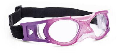 Sportbrille pink Gläser in Sehstärke Schutzbrille + Korrektion für Kinder