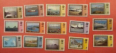 15 FALKLAND ISLANDS 1980 DEPENDENCIES #1L38-52 MNH