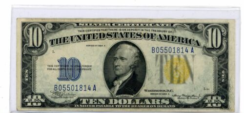 FR-2309 1934 A Series North Africa WWII $10 Ten Dollar Silver Certificate #1814