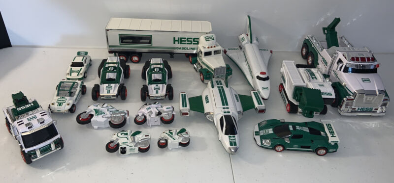 Hess Truck Lot - Mixed Years - Motorcycles, Trucks, Race Cars- Plane + More!!